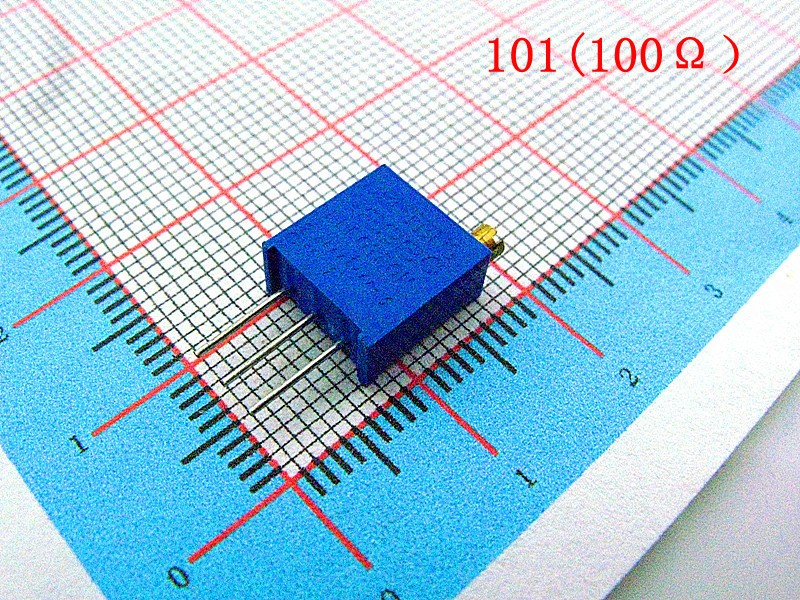 100pcs 100 Ohm 3296w High Precision Trimmer Potentiometer Variable